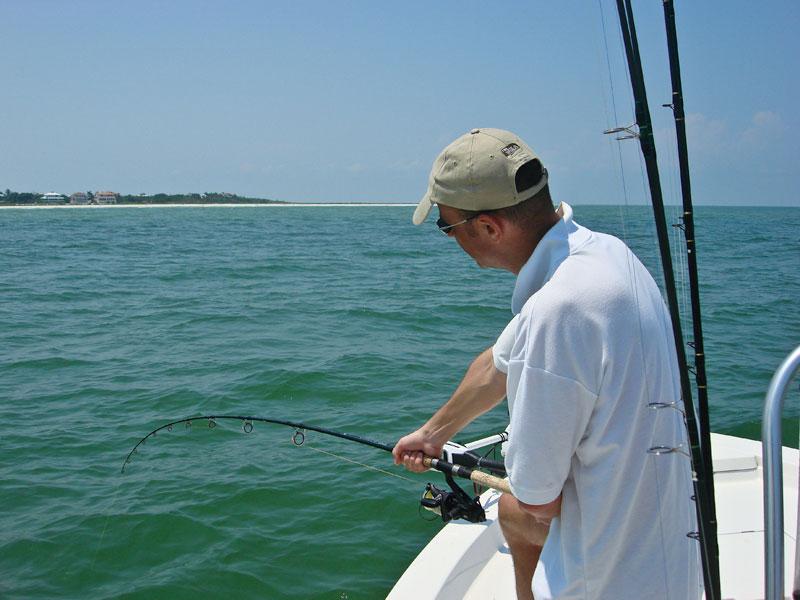 Paul bends into a Florida tarpon