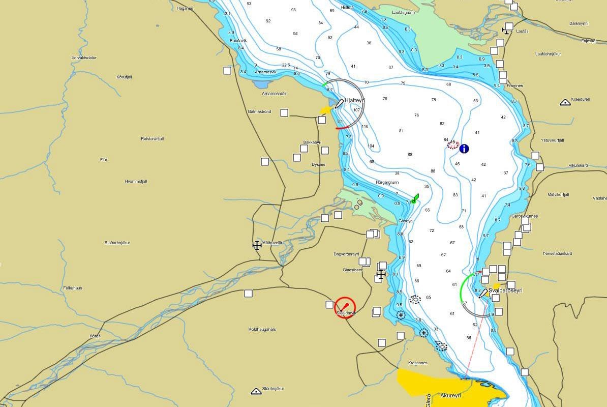 chart of the Dalvik area