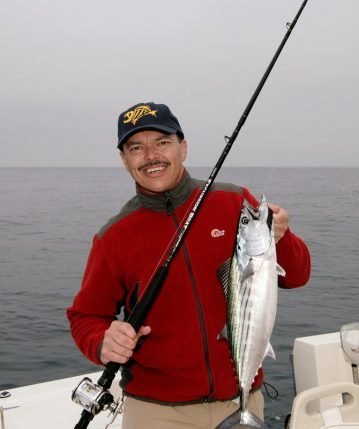 Des Westmore with a San Diego bonito