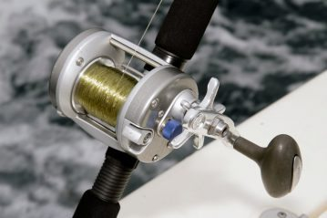a quantum reel on the charter boat
