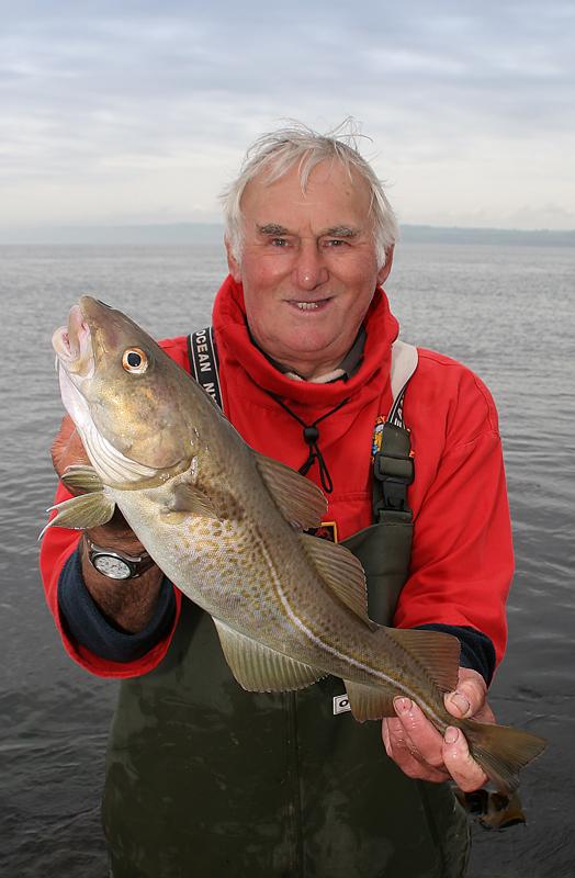 Steve I'Anson with a Filey Brigg cod