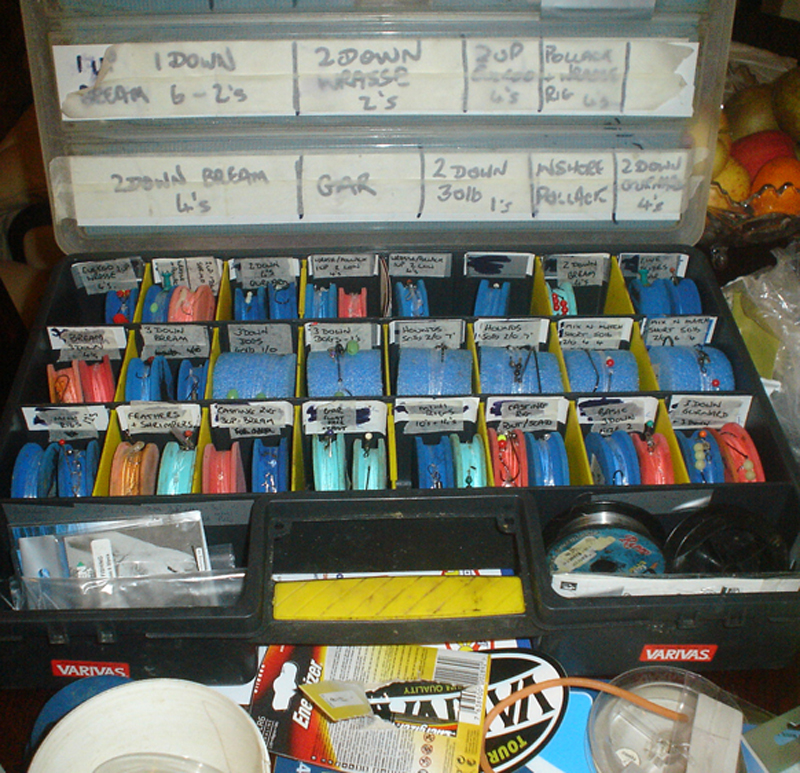Colin Searles' well stocked tackle box
