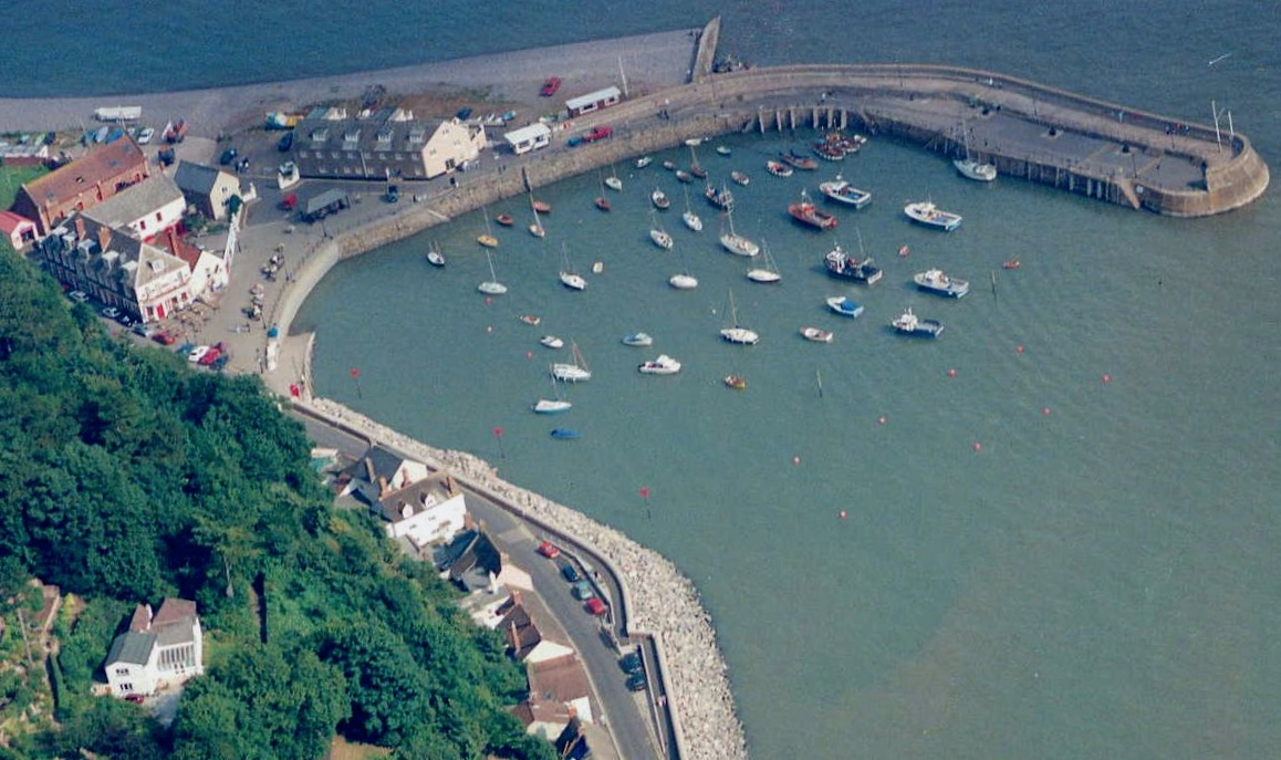 the harbour at Minehead from overhead