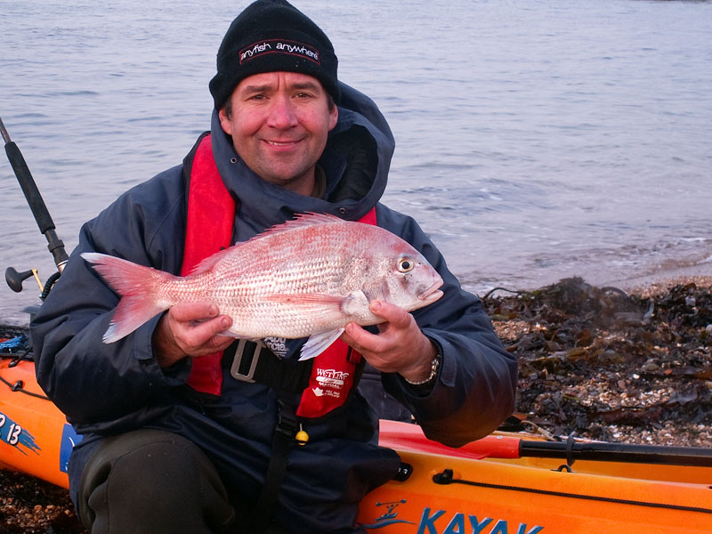 a couch's bream for a kayak angler