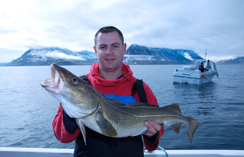 Tony Voss with a cod from Iceland