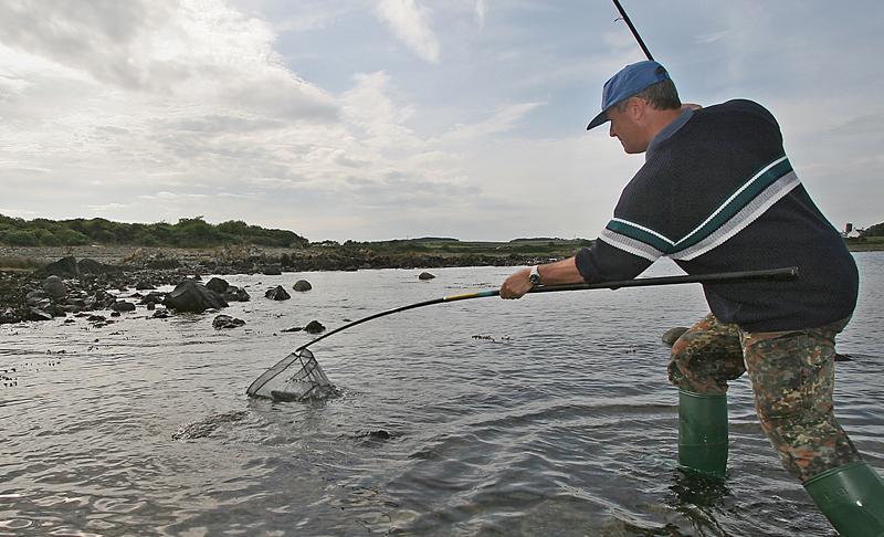 Steve Walket nets a mullet