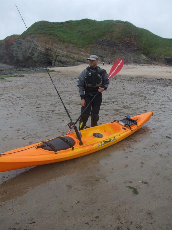 a kayak angler ready to put to sea