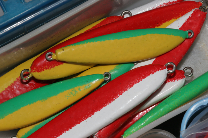 aselection of multi-coloured pirks for casting