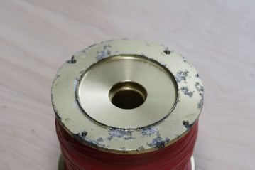 Albacore reel spool pitted