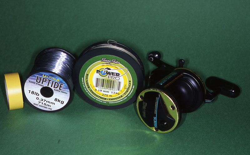 all you need to securely spool a reel with braid