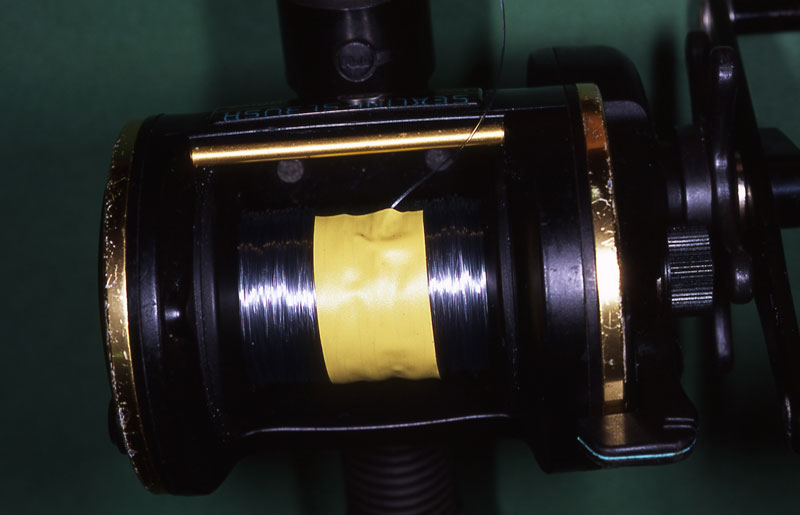 Step 4 - securely spooling a reel with braid
