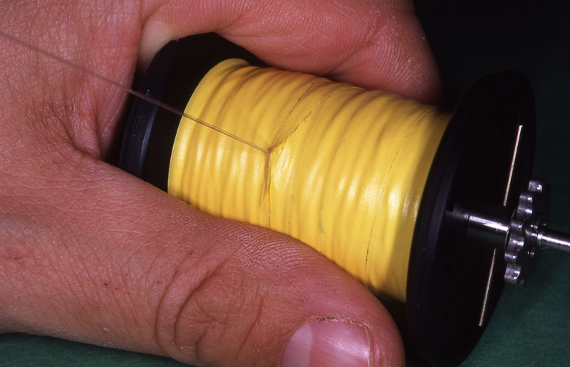 Step 8 - securely spooling a reel with braid