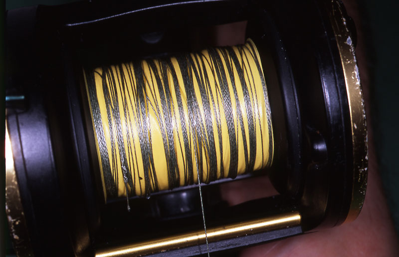 Step 10 - securely spooling a reel with braid