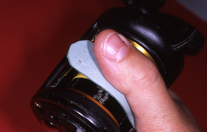 Step 10 - Naughty reels get the strap