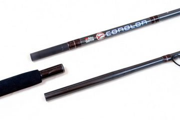 the butt and mid sections of the Abu Conolon Travel Combo rod