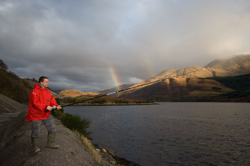 fishing LOch Sunart with a Century Carbon Metal Express