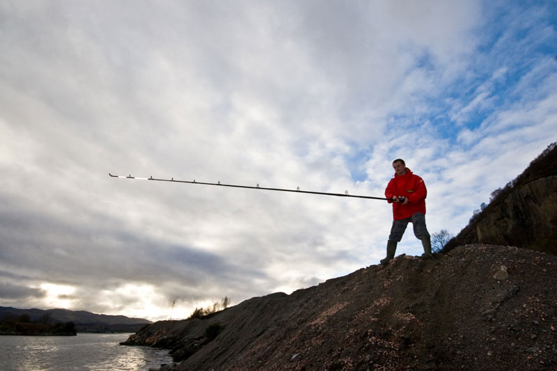 fishing from the rocks with the Century Carbon Metal Express