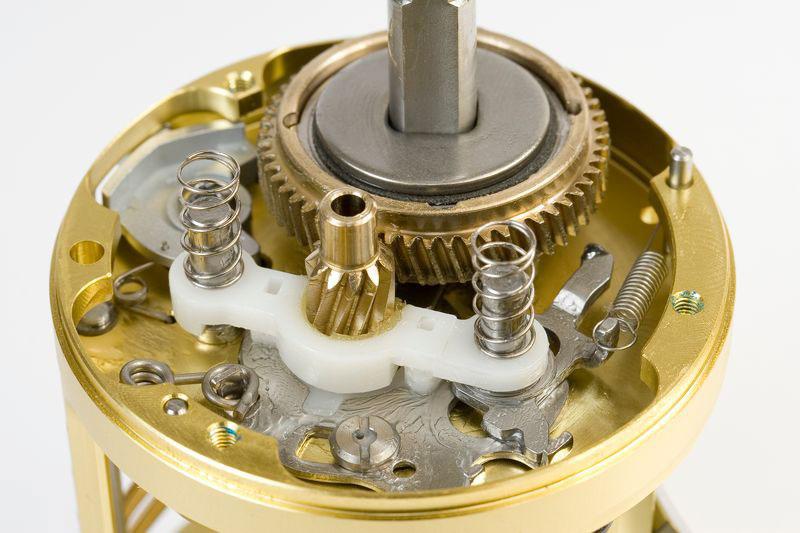 main gears of the Daiwa Luna 300L multiplier reel