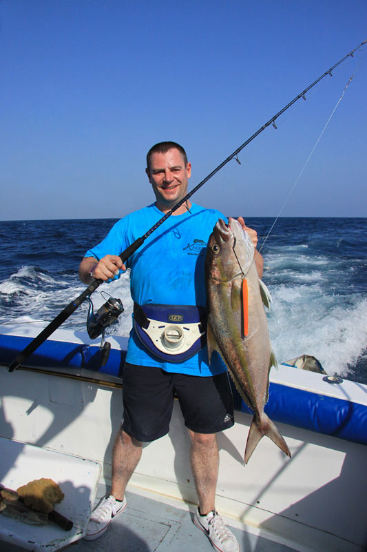 Tony Voss with a GT on the Fox Jig Trek and XT rods
