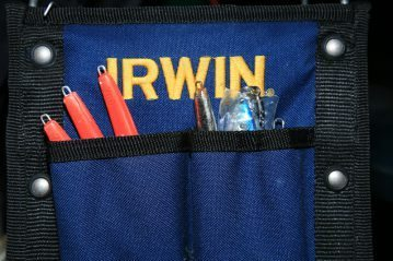 Irwin Job Tote with pirks in side pocket
