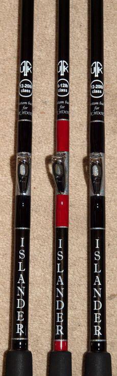 three Islander Boat Rods