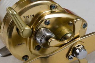 Shimano Trinidad TN14 multiplier reel free spool lever