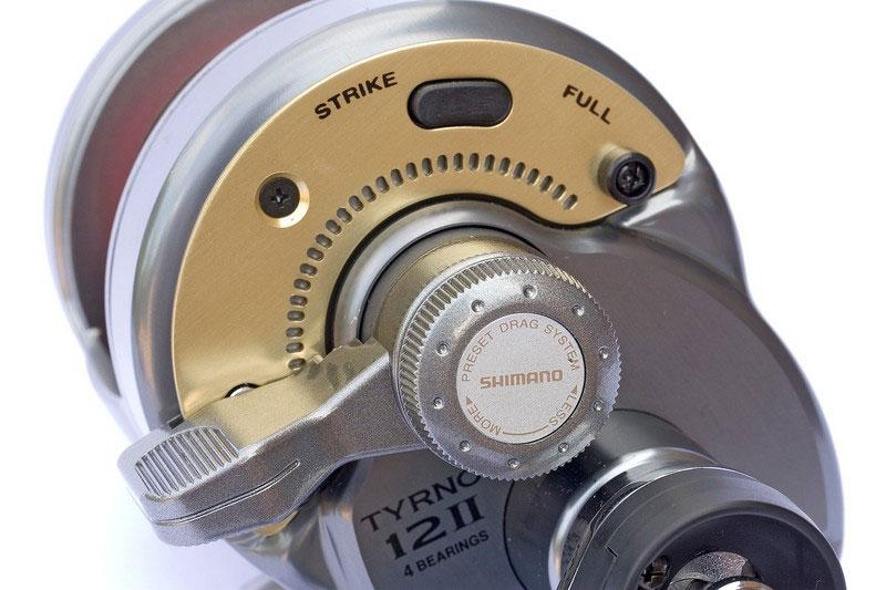 Shimano Tyrnos 12 2-speed reel drag lever