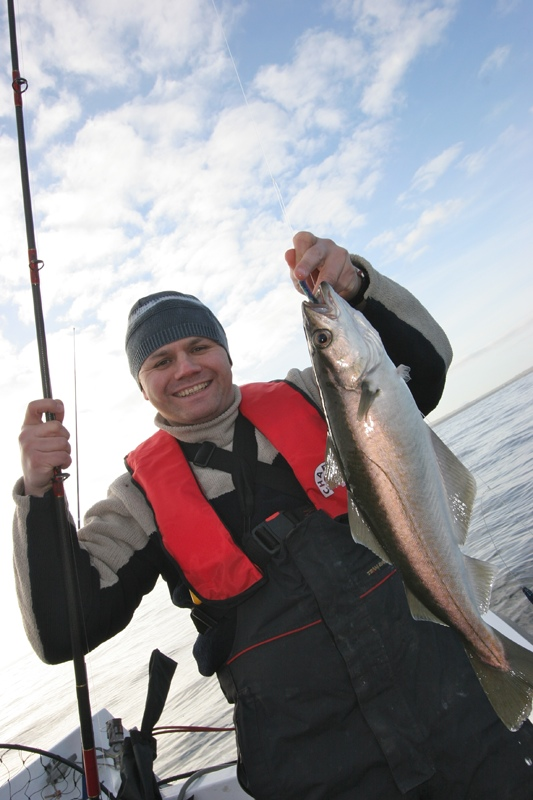 Steve Souter with an Orkney pollack