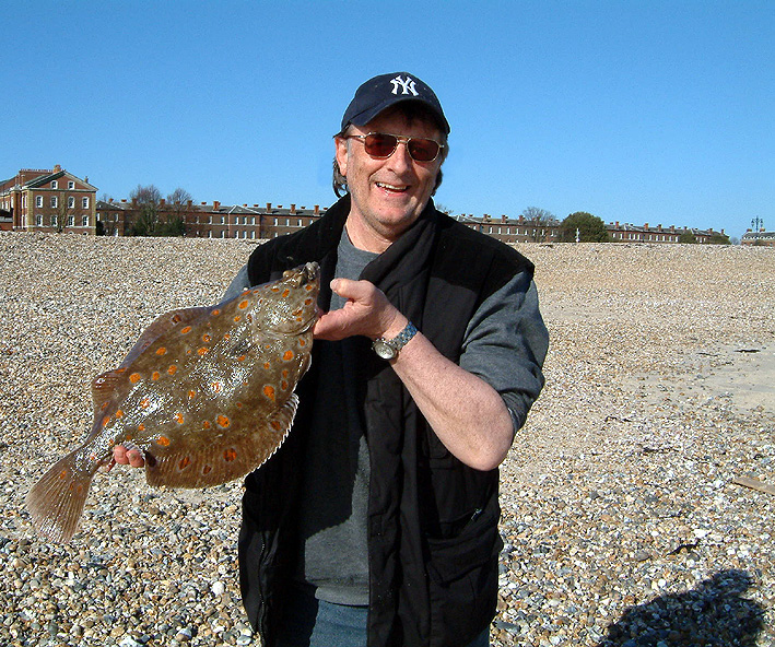 the late Adrain Farley with a shore plaice