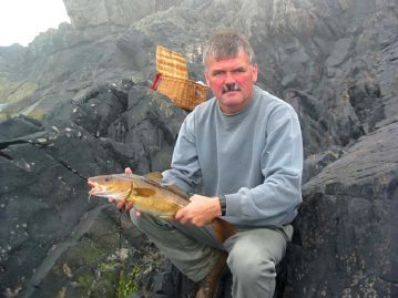 David with a cod from the St Abbs kelp