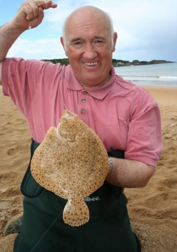 Norman Dunlop with a Culdaff beach turbot