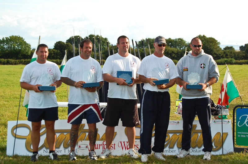 the prizewiners at Surfcast Wales event
