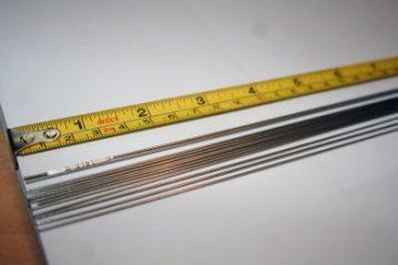 Making a spreader boom welding rods
