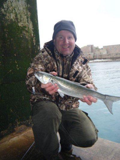 Mark Harding with an Alderney golden grey mullet