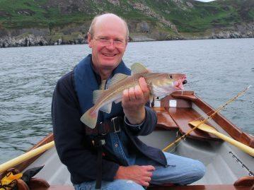Sea Fishing in Wicklow boat small cod