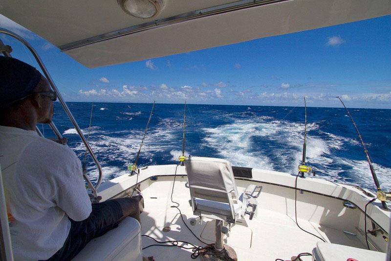 Antigua Fishing flying bridge