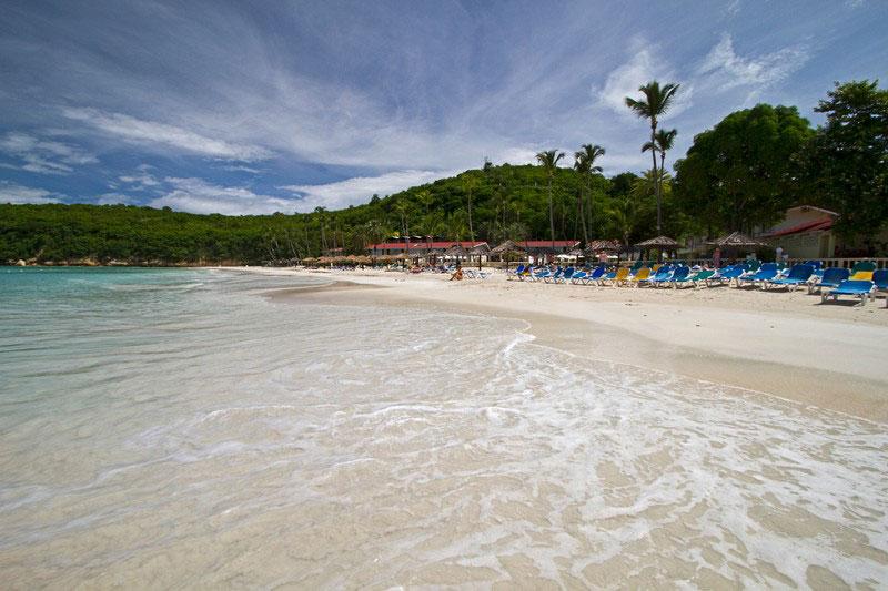 a pristine Antigua beach