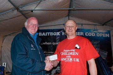 Baitbox Humber Cod Open 2012 runner-up cheque