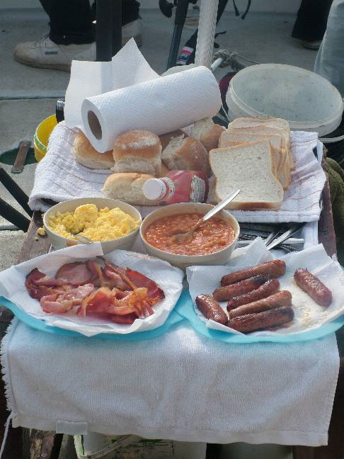 good food aboard a charter boat