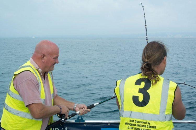 Weymouth International Boat Angling Challenge at sea
