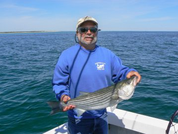 Dave Bois with a striped bass