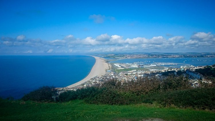 the expanse of CHesil beach