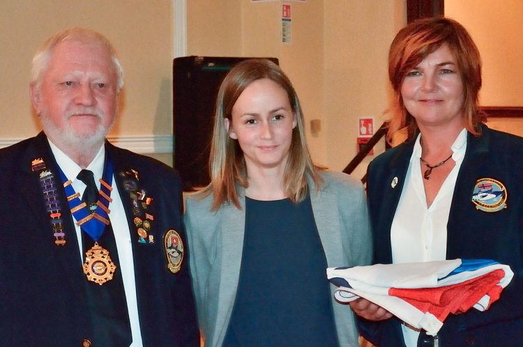 EFSA Norway representatives receive the EFSA Championship Flag