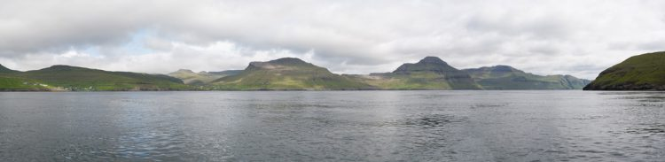 panorama of Vestmanna fjord