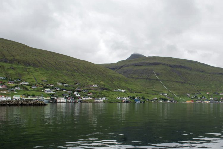 the town of Vestmanna in the Faroe Islands