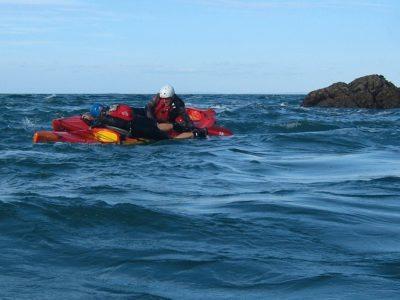 LRF HRF kayak fishing in Jersey capsize rescue