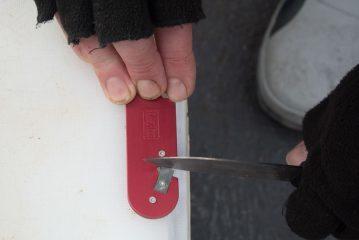 Blade-Tech Knife Sharpener down stroke