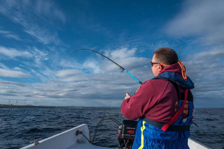 angler using the Blue Zone Telepower 360