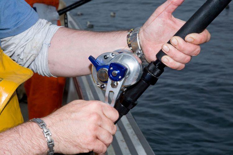 Daiwa Saltiga 2 Speed Lever Drag Reel on rod