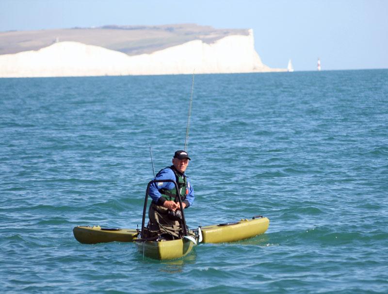 Freedom Hawk Kayaks at sea